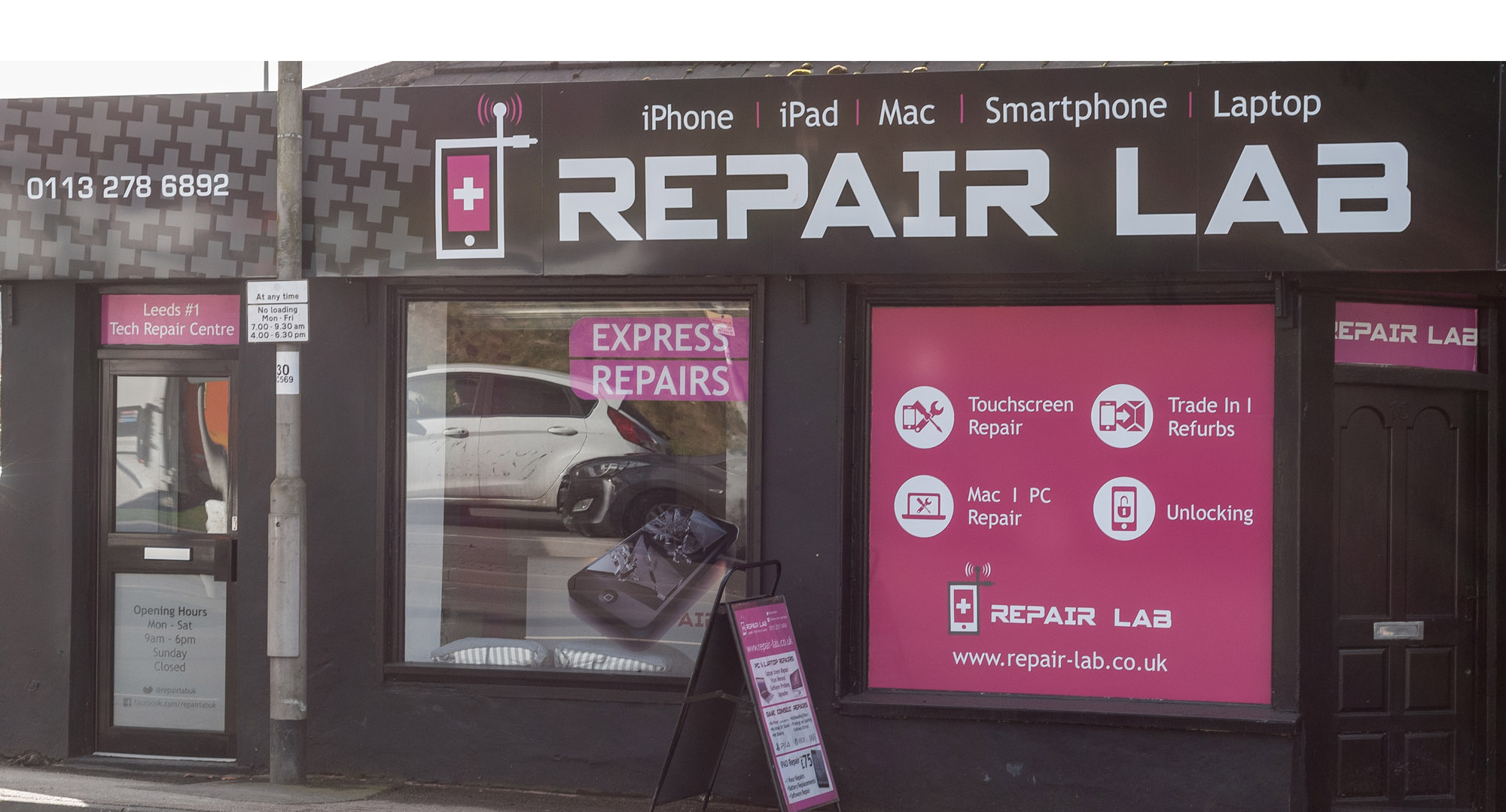 Repair Lab Kirkstall Leeds Front Of Shop